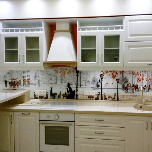 Фартук для белой кухни прованс