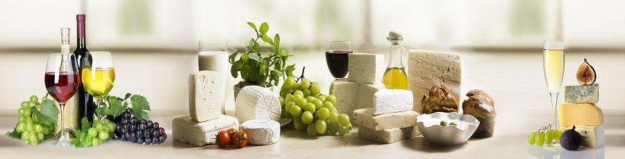 виноград и вино на скинали