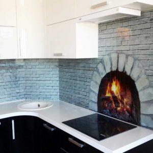 Фартук для кухни в скандинавском стиле интерьер