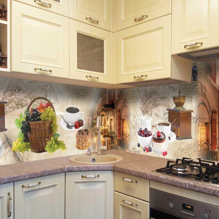 Скинали в стиле прованс на кухне