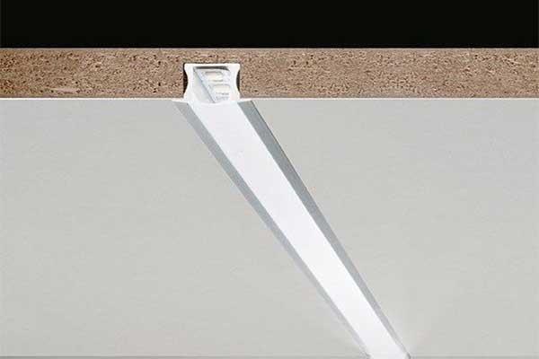 Врезной алюминиевый светодиодный профиль