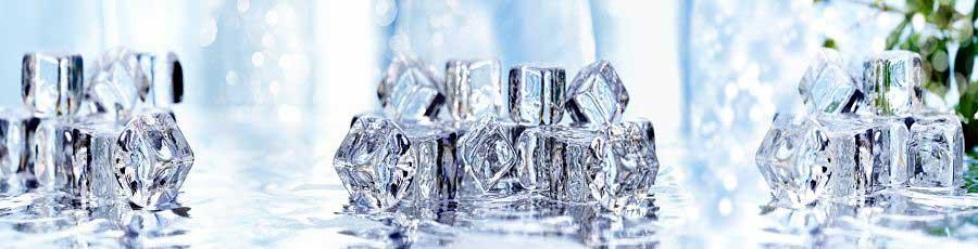 фартук для кухни кубики льда
