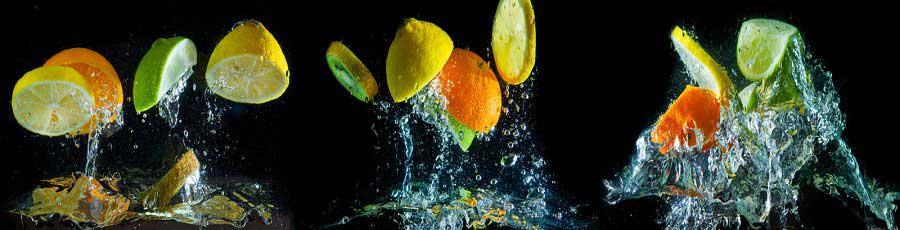 Фартук для кухни Лимоны