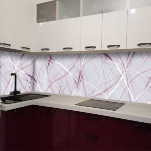 Кухонный фартук из стекла с фотопечатью