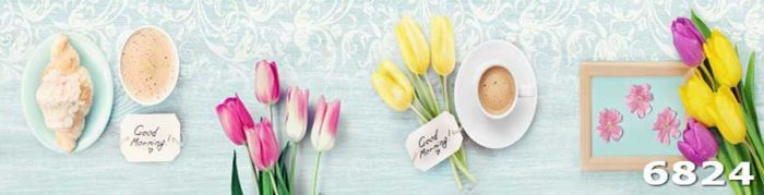 Фартук Тюльпаны на кухню