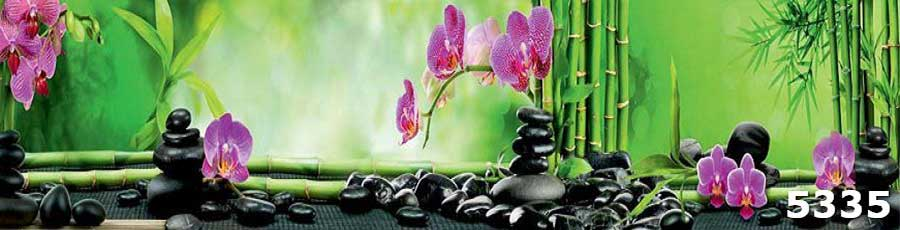 Фартук на кухню Орхидеи