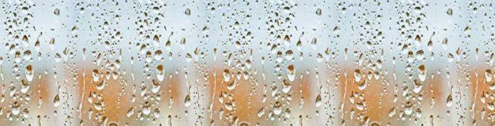 Стеклянный фартук Капли воды
