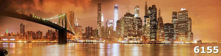 Стеклянный фартук Ночной город