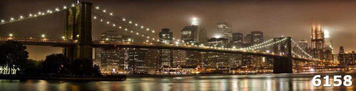 Фартук стеклянный Ночной город