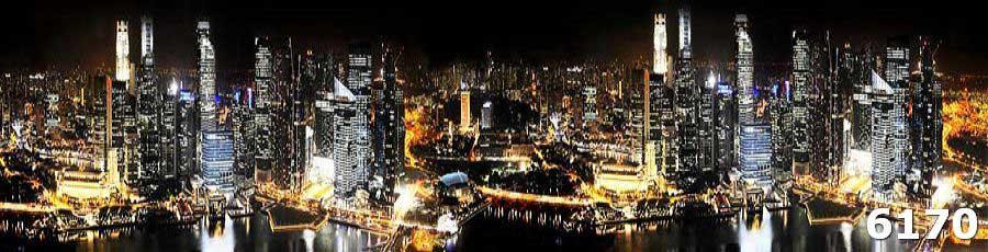 Ночной город стеклянный фартук