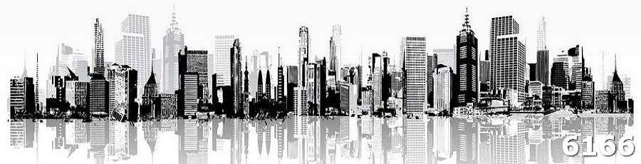 Скинали Черно-белый город