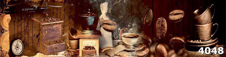 Фартук для кухни из стекла Кофе