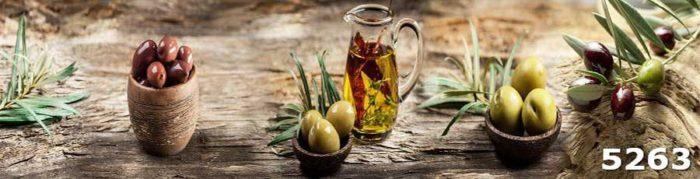 Фартук для кухни с оливками
