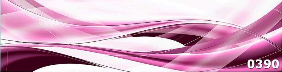 Стеклянный фартук для кухни абстракция Волны
