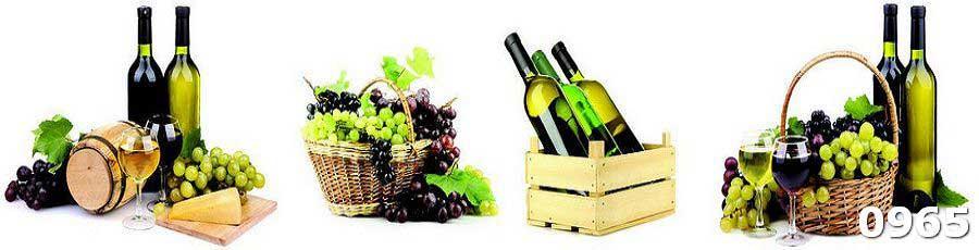 Кухонный фартук с фотопечатью винный коллаж