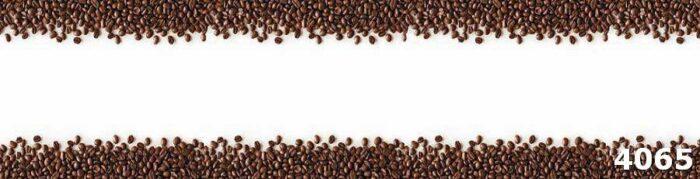 Стекло на стену кухни кофейные зерна
