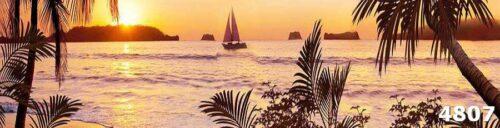 Фартук из каленого стекла Морской пейзаж