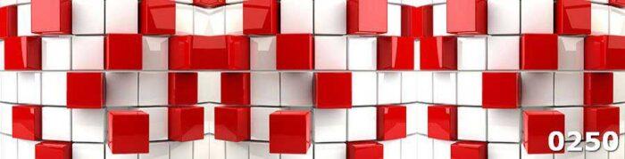 Фартук с фотопечатью Объемные кубы