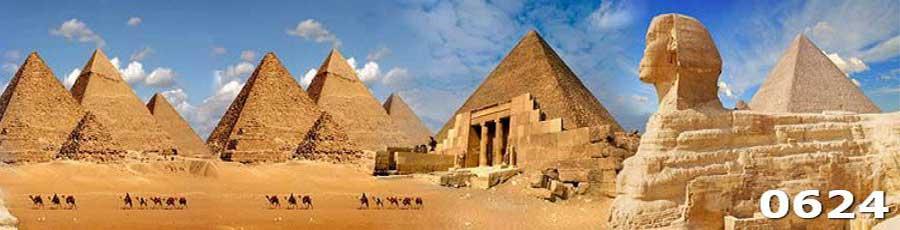 Кухонный фартук из закаленного стекла Пирамиды