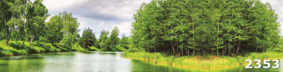 Стеклянные скинали Лес и река
