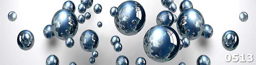 Закаленное стекло для кухни с шарами