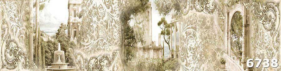 Фартук из закаленного стекла Фреска