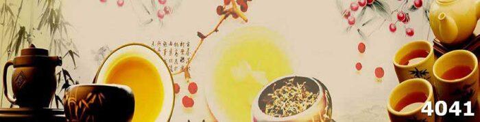 Стеклянный фартук скинали Чайная церемония
