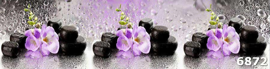 Стеновой фартук для кухни Орхидея