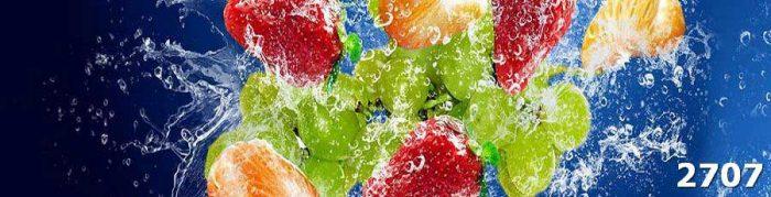 Фартук для кухни фрукты в воде