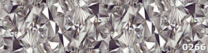 стеклопанели для кухни Кристаллы