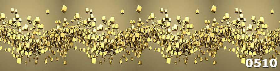Защитная панель из закаленного стекла Золотые кубики