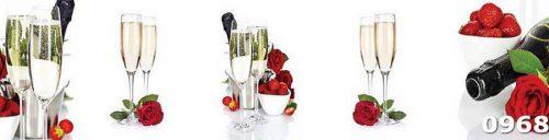 Жаропрочное стекло для кухни Бокалы шампанского