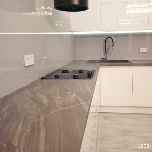 Настенная панель для кухни из стекла фото