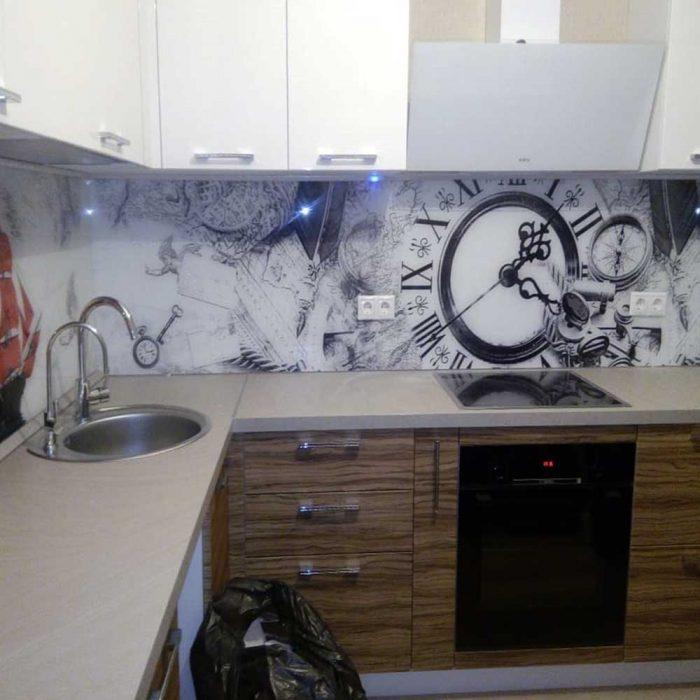 Кухни с фотопечатью скинали