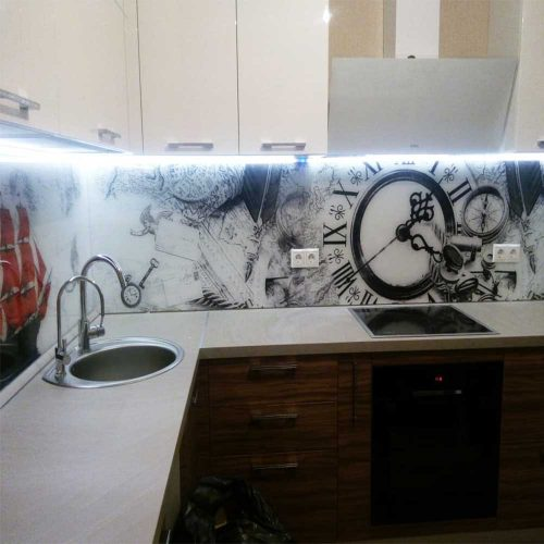 Кухни с фотопечатью скинали фото
