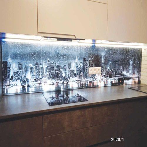 Фартук для кухни 3д с подсветкой