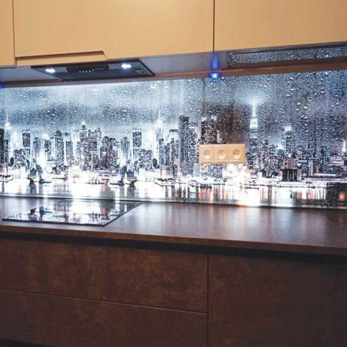 Фартук для кухни 3д с подсветкой фото