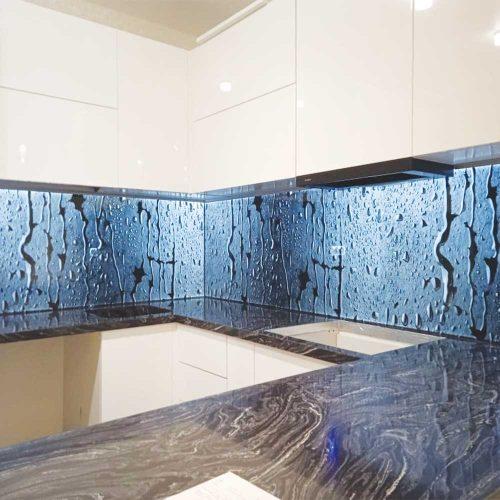 Фартук для кухни с подсветкой изнутри фото