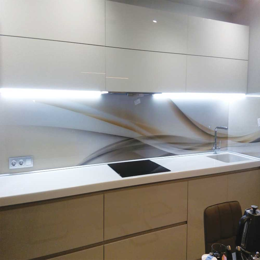 Скинали для кухни с подсветкой фото