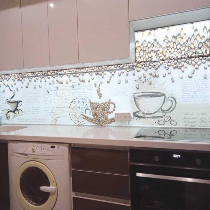 Фартук на кухню фото с подсветкой