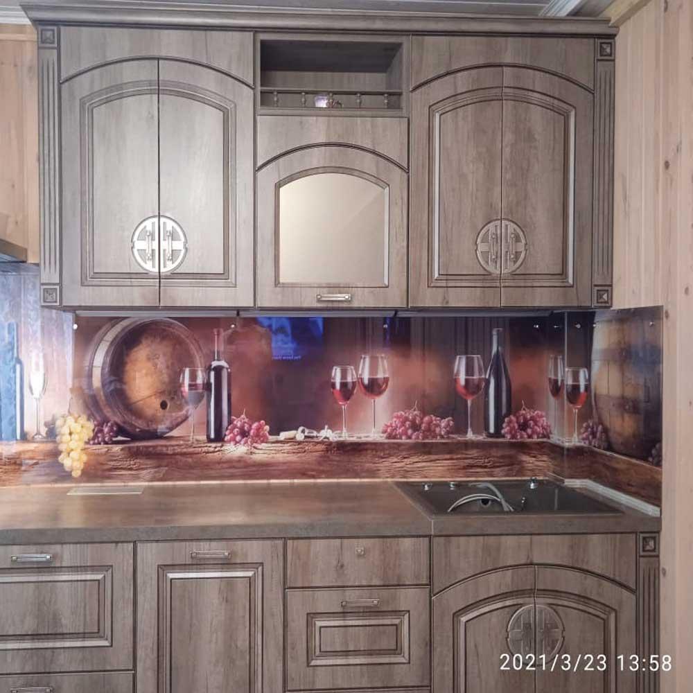 Фото скинали с фотопечатью для кухни