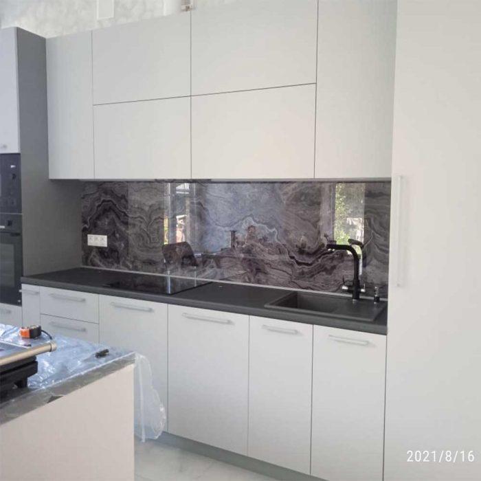 Фотопечать на стекло для кухни
