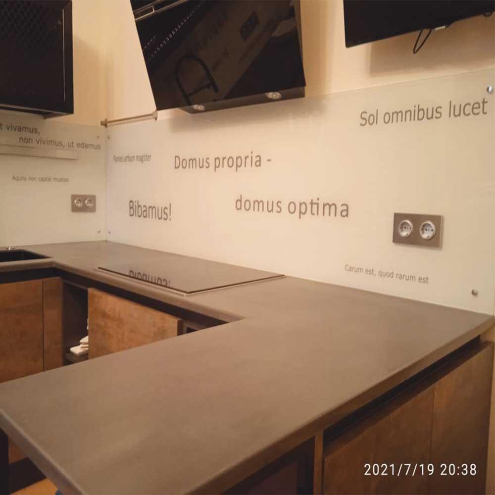 Фотопечать стеклянный фартук фотография кухни